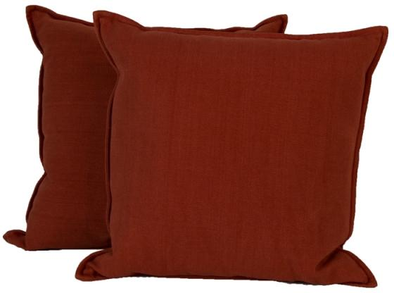 Orange Linen-Like Throw Pillows main image