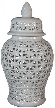White Cut Work Vase  main image