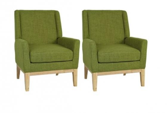 Set of 2 Green Accent Chairs main image
