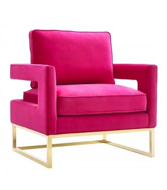 Pink and Gold Club Chair main image