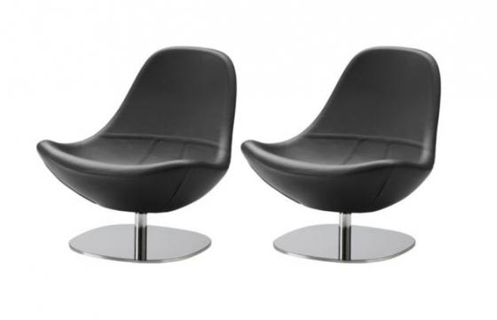 Black Leather Swivel Chairs main image